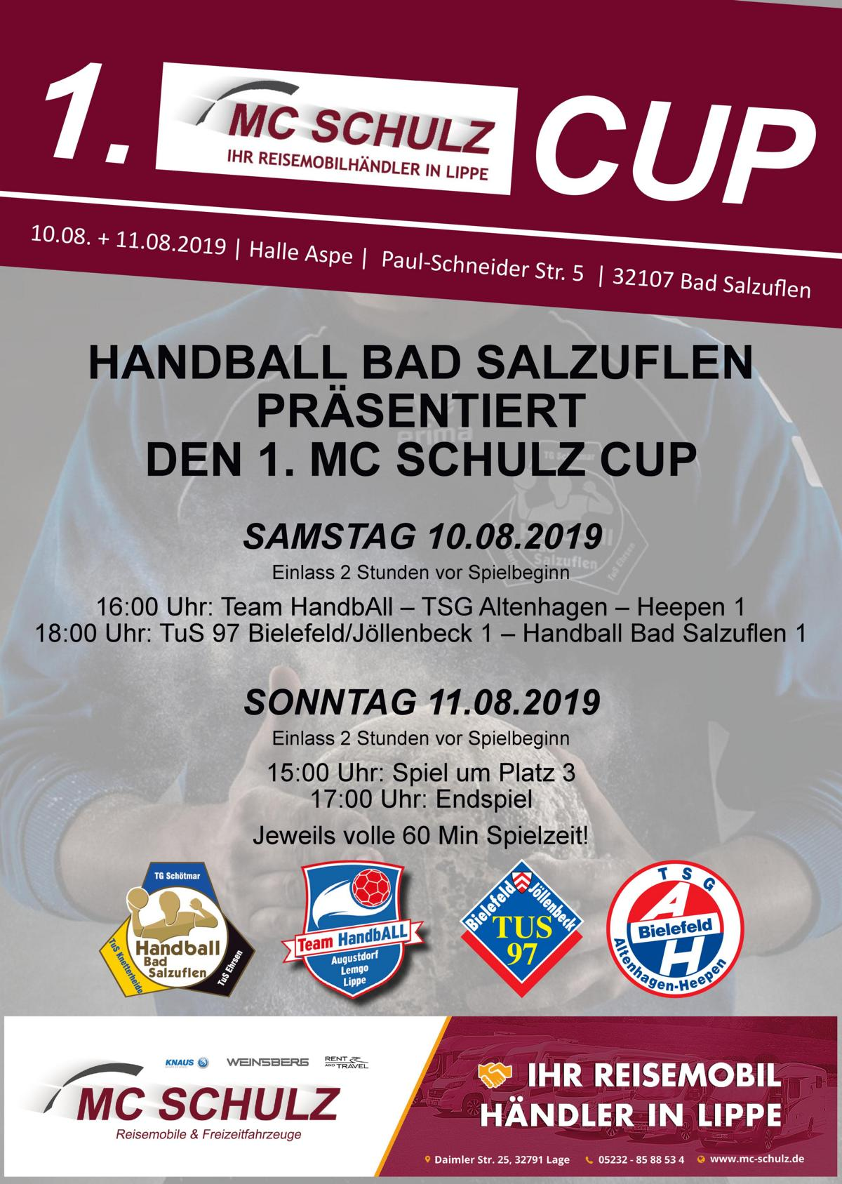 1. MC Schulz Cup – 10. + 11. August 2019